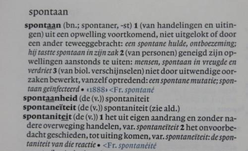 Spontaan in Van Dale