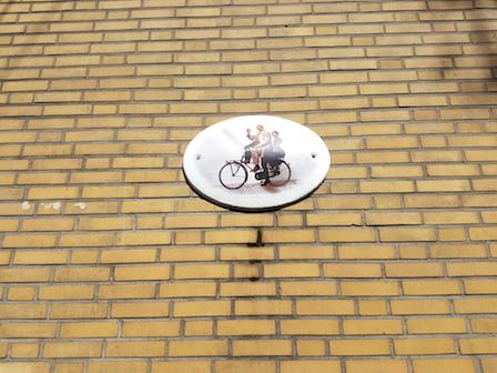 F. Starik op de fiets